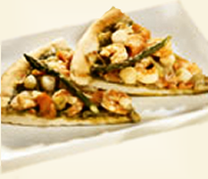 Recette de pizza aux fruits de mer et au fromage de chèvre