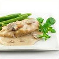 Steaks de poitrine de dindon et sauce aux champignons