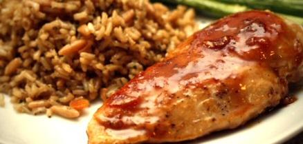 poulet à l'érable et au gingembre
