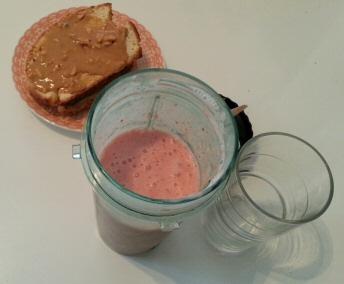 smoothie fraise banane citron lait glace